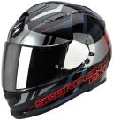 Moto přilba SCORPION EXO-510 AIR STAGE černo/stříbrno/červená