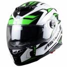Moto přilba ASTONE GT800 FUTURA černo/zelená