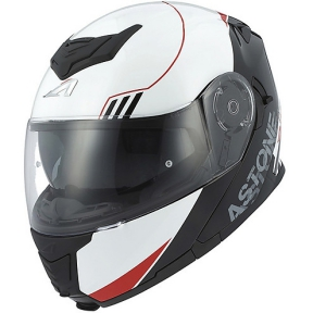 Moto přilba ASTONE RT1200 UPLINE červeno/bílá