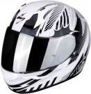 Moto přilba SCORPION EXO-390 POP černo/bílá