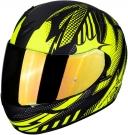 Moto přilba SCORPION EXO-390 POP černo/žlutá