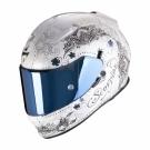 Moto přilba SCORPION EXO-510 AIR AZALEA perleťově bílo/stříbrná